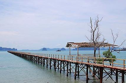 แหล่งท่องเที่ยว หาดแหลมป่อง คลองม่วง กระบี่